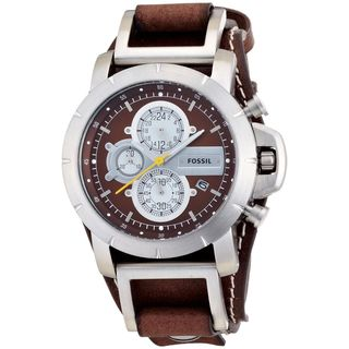 Fossil Men's JR1157 'Trend' Chronograph Brown Leather Watch