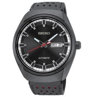 Seiko Men's SNKN45 Automatic 21 Jewel Movement 50M Water Resistant Day Date Watch|https://ak1.ostkcdn.com/images/products/10877830/P17914338.jpg?impolicy=medium