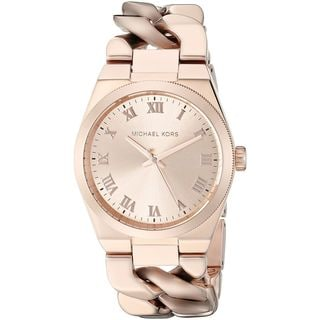 Michael Kors Women's MK3414 'Channing' Rose-Tone Stainless Steel Watch