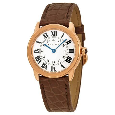 Cartier Women's W6701007 Ronde Solo De Cartier Silver Watch