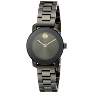 Movado Women's 3600326 'Bold' Black Stainless Steel Watch