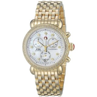 Michele Women's MWW03M000141 'CSX 36' Chronograph Diamond Gold-Tone Stainless Steel Watch