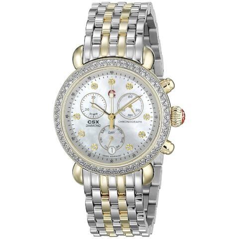 Michele Women's MWW03M000158 'CSX 36' Chronograph Diamond Two-Tone Stainless Steel Watch
