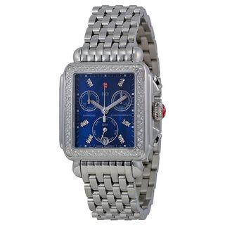 Michele Women's MWW06P000219 'Deco' Chronograph Diamond Stainless Steel Watch