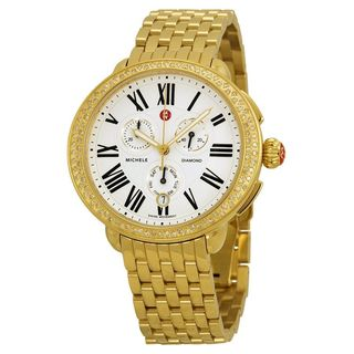 Michele Women's MWW21A000011 'Serein' Chronograph Diamond Gold-Tone Stainless Steel Watch