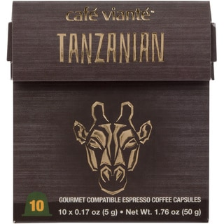 Cafe Viante Tanzanian 70-pack Coffee Capsules for Nespresso Compatible Machines