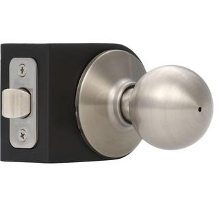 Schlage Orbit Satin Nickel Bed and Bath Knob