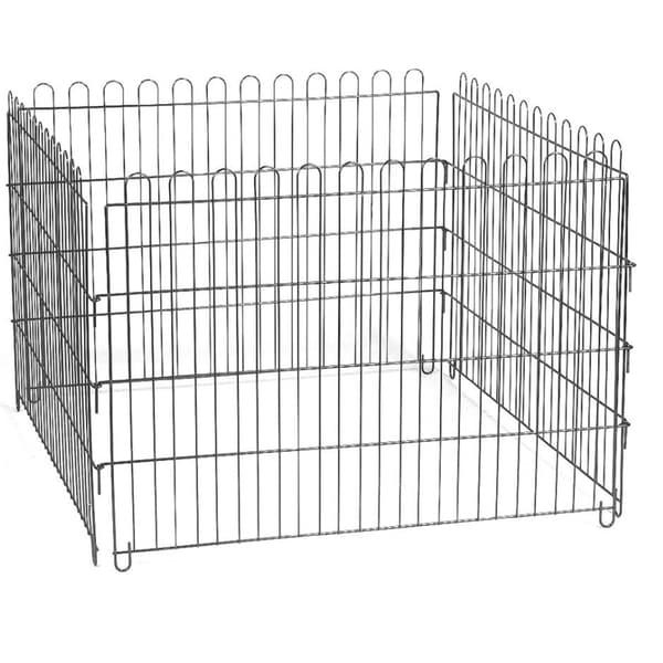 YML Animal Play Pen with Door 24-Inch x 36-Inch 8 Panels Black