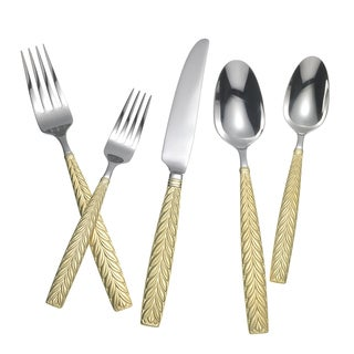 Yamazaki Feather Gold Accent 5-piece Place Setting