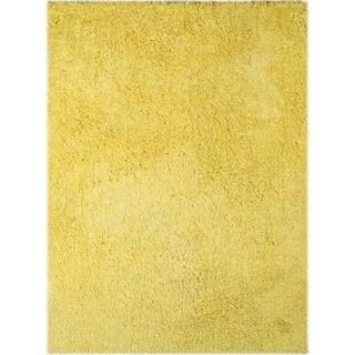 "Palo Alto Shag Rug in Yellow - 5' x 7'6"""