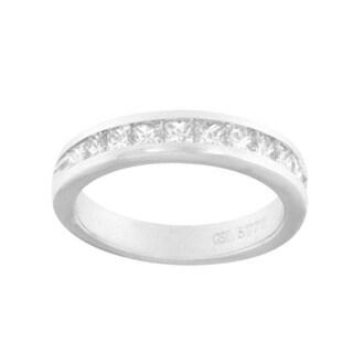 18k White Gold 1ct TDW Princess-cut Diamond Band (G-H, SI1-SI2)