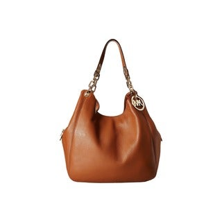 Michael Kors Fulton Brown Shoulder Tote Handbag