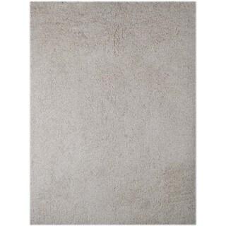 Palo Alto Shag Rug in White (7'6 x 9'6)
