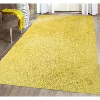 Palo Alto Shag Rug in Yellow - 7'6 x 9'6