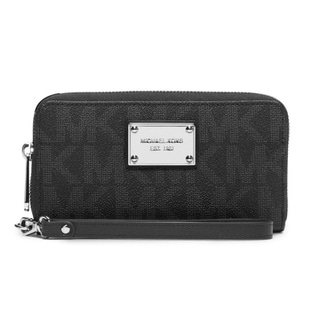 Michael Michael Kors Jet Set Travel MK Logo Black Wallet