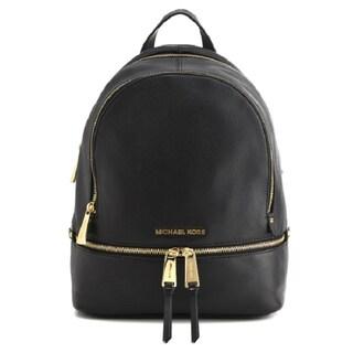 Michael Kors Rhea Zip Small Black Backpack