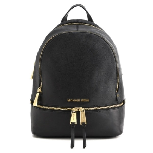 bdd8e13ae4d9 Shop Michael Kors Rhea Zip Small Black Backpack - Free Shipping Today -  Overstock - 10878045