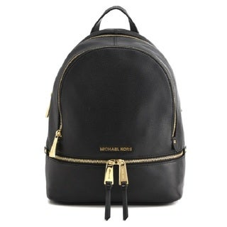 Michael Kors Rhea Zip Small Black Backpack