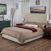 Christopher Knight Home Amory Upholstered Fabric Bed Set