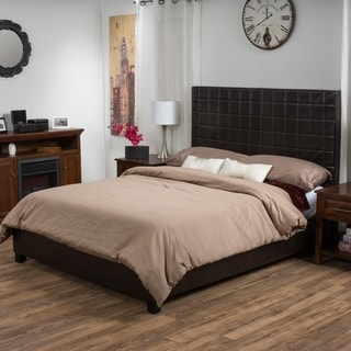 Great Christopher Knight Home Ellington Upholstered Bonded Leather Bed Set
