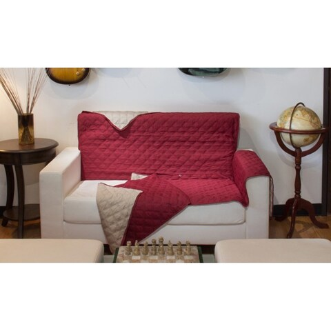 Button design reversible sofa cover