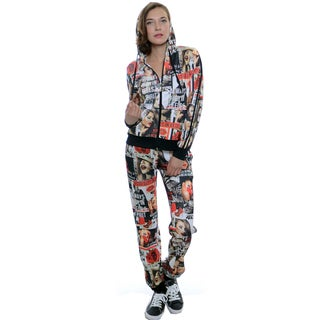 Women's Scuba Magazine Print Jog 2-piece Set