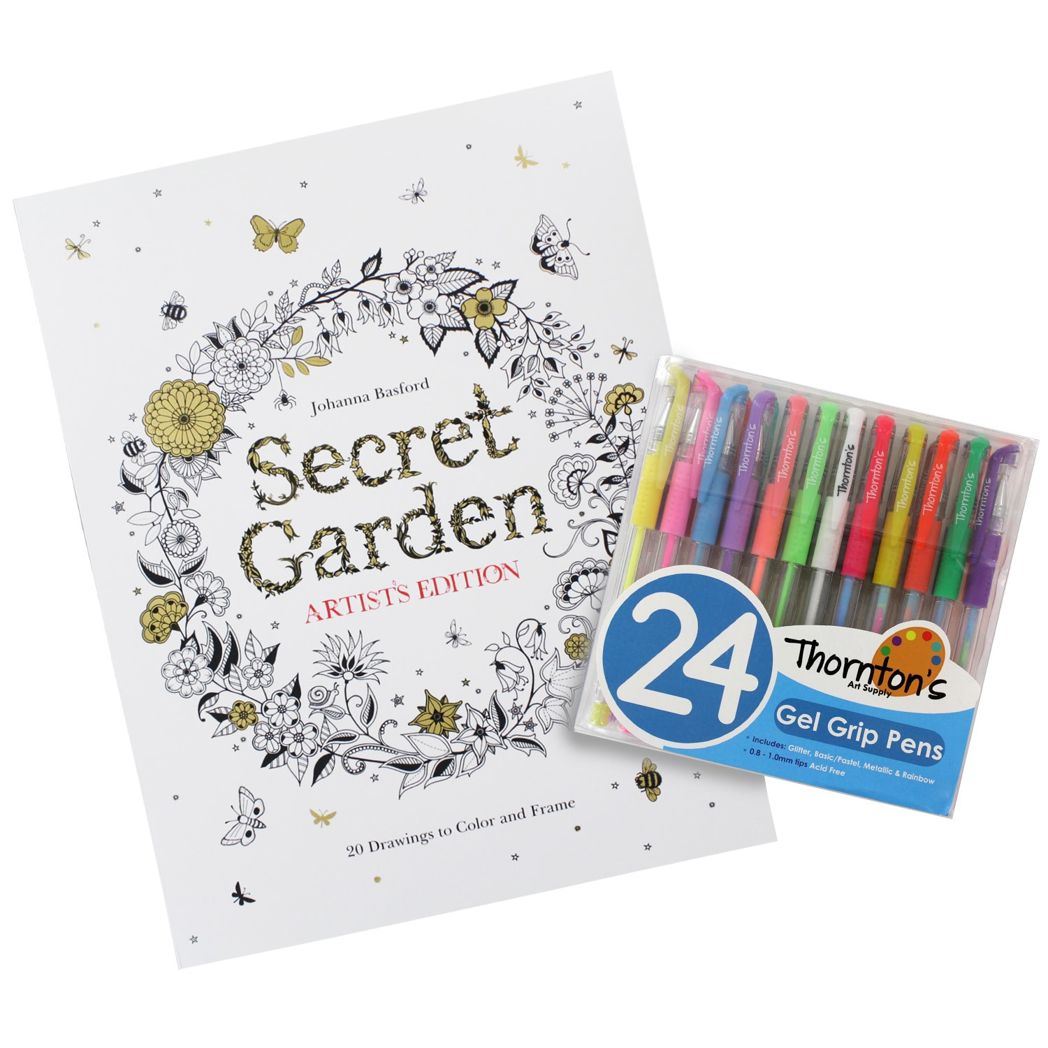 Secret Garden Artist S Edition Coloring Book With Choice Of Thornton S Luxury Goods Art Pens Pencils Overstock 10878107