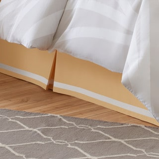 Rizzy Home Kinetics Yellow Bed Skirt Free Shipping Today Overstock Com 17467181