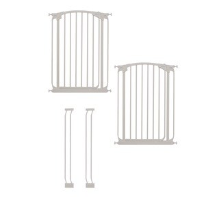Dreambaby Chelsea Tall Auto Close Stay Open Gate Combo Pack 2 Gate 2 Ext - White