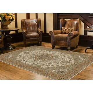 Alise Fairview Traditional Oriental Red Area Rug (5'3 x 7'3)