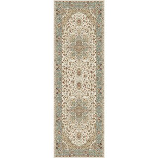 Alise Fairview Traditional Oriental Blue Runner Area Rug (2'7 x 7'3)