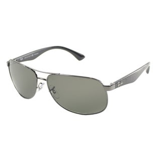 discount ray ban glasses  ray ban men's gunmetal metal aviator polarized sunglasses