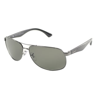 Ray Ban Men's Gunmetal Metal Aviator Polarized Sunglasses