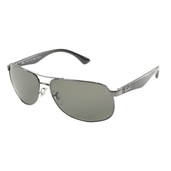 19ec84b374f Shop Ray Ban Men s Gunmetal Metal Aviator Polarized Sunglasses - On ...