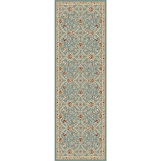 Alise Fairview Transitional Floral Blue Runner Area Rug (2'7 x 7'3)