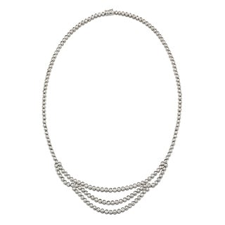 Kabella Luxe 18k White Gold 9 7/8ct TDW Round Diamond Tennis Necklace (H-I, SI1-SI2)