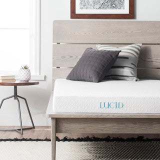 lucid dual layered 5inch full xlsize gel memory foam mattress option