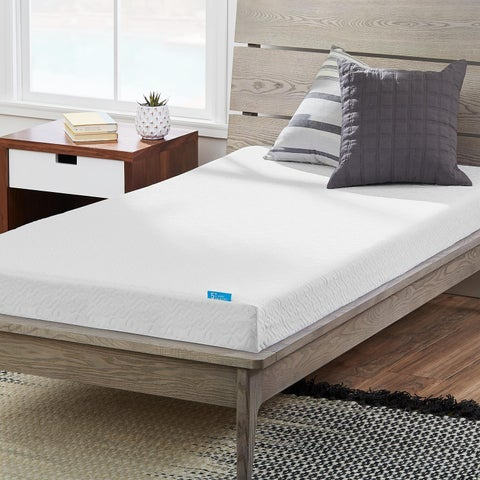 LUCID Comfort Collection Dual Layered 5-inch Twin-size Gel Memory Foam Mattress