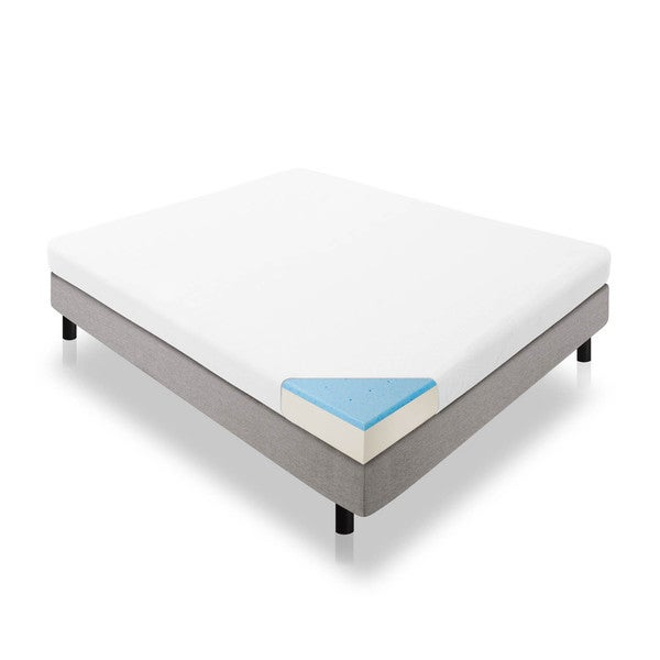 LUCID 5 inch Twin Size Gel Memory Foam Mattress Free