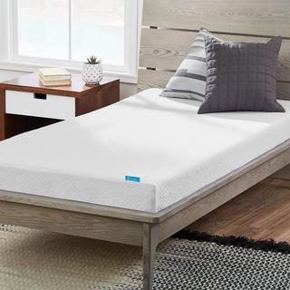 LUCID Dual Layered 5-inch Twin Size Gel Memory Foam Mattress