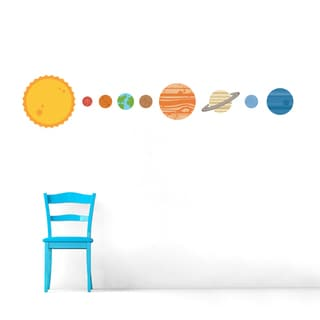 Planets Solar System Wall Decals Set
