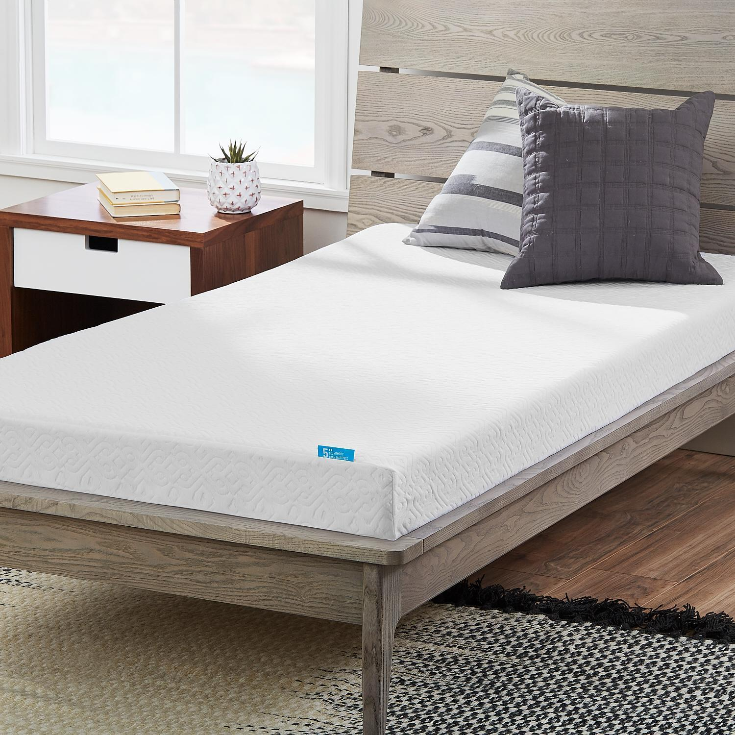 Shop Lucid Comfort Collection Dual Layered 5 Inch Gel Memory Foam