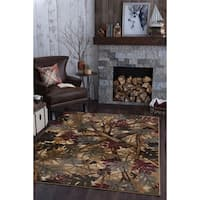 Alise Natural Lodge Beige Area Rug (5'3 x 7'3)