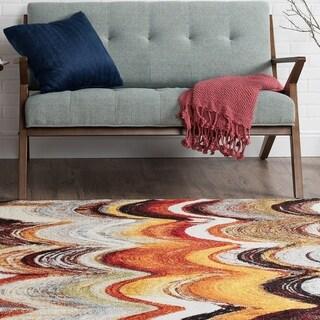 Alise Avdel Contemporary Stripe Multi Area Rug (5'3 x 7'3)