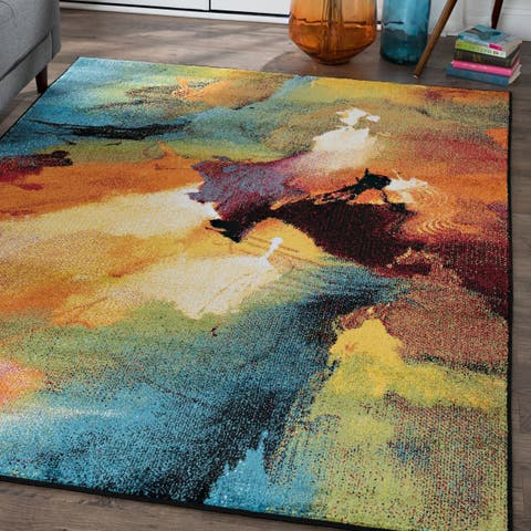 Alise Rugs Avdel Contemporary Abstract Area Rug - 7'10 x 10'3