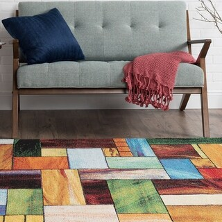 Alise Avdel Contemporary Abstract Multi Area Rug (7'10 x 10'3)