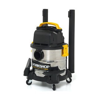 WORKSHOP WS0400SS 2.5 Peak HP, 4 gal. Stainless Steel Wet/Dry Vac