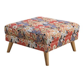 Boho Turbo Floral Square Cocktail Ottoman