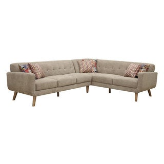 Boho Coffee 2 Piece Contemporary Mid-century Style Sectional