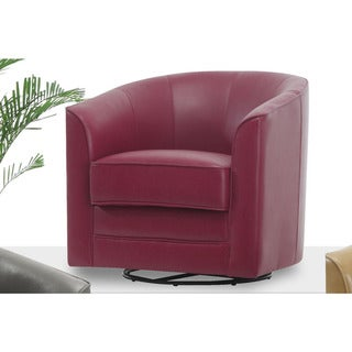 Milo Bonded Leather Swivel Accent Chair